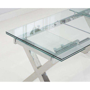Furnish Our Home:Mark Harris Cilento 160cm Glass Extending Dining Table