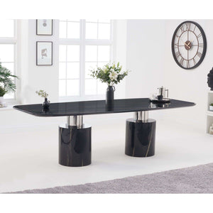 Furnish Our Home:Mark Harris Adeline 260cm Black Marble Dining Table