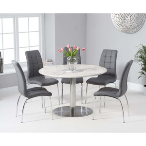 Furnish Our Home:Mark Harris Battista 120cm Round White Dining Table with 6 x California Chairs