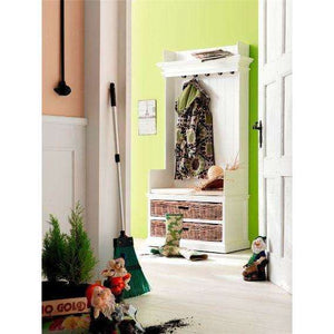 Furnish Our Home:NovaSolo Halifax Entryway Coat Rack & Bench Unit With Basket