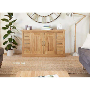 Furnish Our Home:Baumhaus Mobel Oak Six Drawer Sideboard