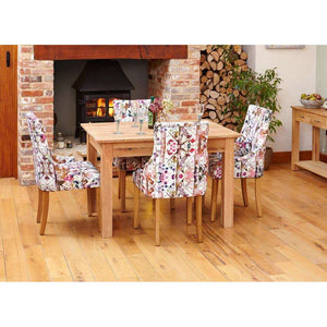 Furnish Our Home:Baumhaus Mobel Oak Dining Table (4 Seater)