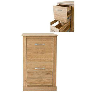 Furnish Our Home:Baumhaus Mobel Oak Two Drawer Filing Cabinet