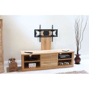 Furnish Our Home:Baumhaus Mobel Oak Mounted Widescreen Television Cabinet