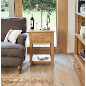 Furnish Our Home:Baumhaus Mobel Oak One Drawer Lamp Table