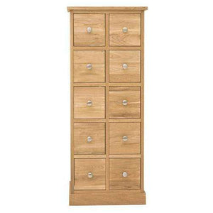Furnish Our Home:Baumhaus Mobel Oak Multi-Drawer DVD / CD Storage Chest