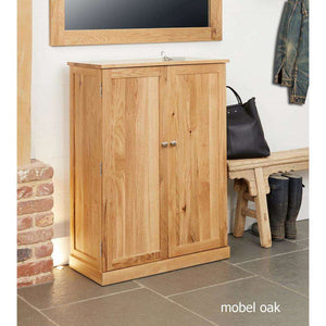 Furnish Our Home:Baumhaus Mobel Oak Large Shoe Cupboard