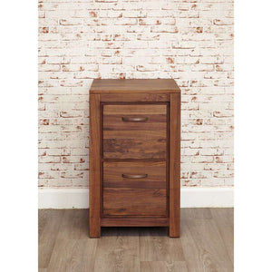 Furnish Our Home:Baumhaus Mayan Walnut Two Drawer Filing Cabinet