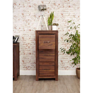 Furnish Our Home:Baumhaus Mayan Walnut 3 Drawer Filing Cabinet