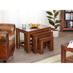 Furnish Our Home:Baumhaus Mayan Walnut Nest of 3 Coffee Tables