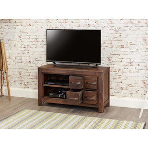 Furnish Our Home:Baumhaus Mayan Walnut Four Drawer Television Cabinet