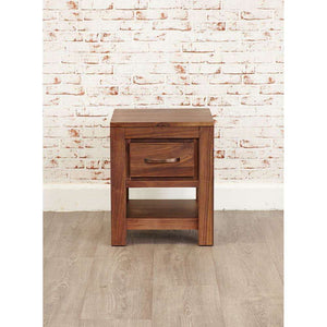 Furnish Our Home:Baumhaus Mayan Walnut One Drawer Lamp Table