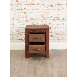 Furnish Our Home:Baumhaus Mayan Walnut Two Drawer Lamp Table