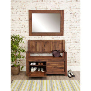 Furnish Our Home:Baumhaus Mayan Walnut Monks Bench with Shoe Storage