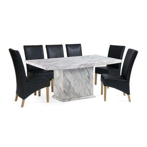 Furnish Our Home:Mark Harris Caceres Dining Table 180 with 6 x Roma Black Chairs