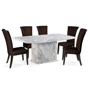Furnish Our Home:Mark Harris Caceres Dining Table 220 with 6 x Almeria Brown Chairs