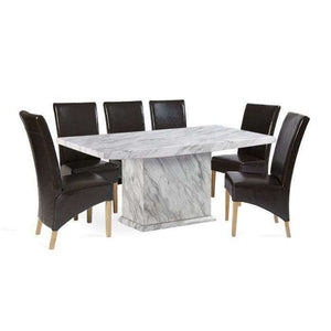 Furnish Our Home:Mark Harris Caceres Dining Table 220 with 6 x Roma Brown Chairs