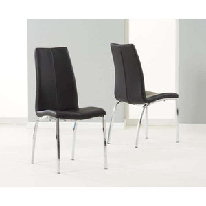 Furnish Our Home:Mark Harris Carsen Black Pu Leather & Chrome Chairs (Pair)