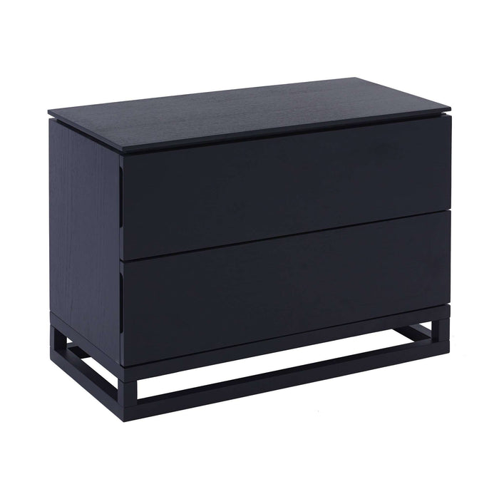 Gillmore Space Cordoba Large Bedside Chest  - Black Stained Oak Veneer