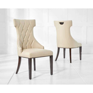 Furnish Our Home:Mark Harris Fredo Cream Pu Dining Chair (Pair)