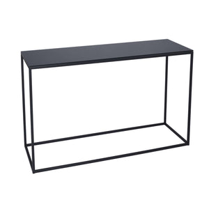 Furnish Our Home:Gillmore Space Kensal Console Table - Black Glass With Black Base