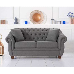 Furnish Our Home:Mark Harris Liv Grey Linen 2 Seater Sofa