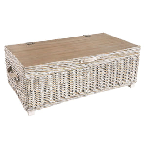 Furnish Our Home:Beco Living Mei Rattan - White Wash Coffee Storage Table