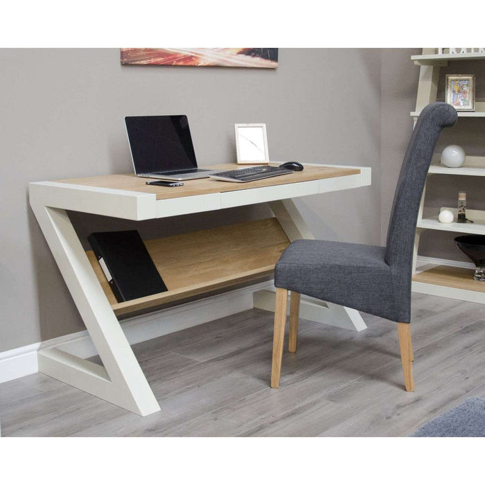 Homestyle Painted Z Desk With Natural Top