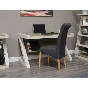Furnish Our Home:Homestyle Painted Z Desk With Smoke Top