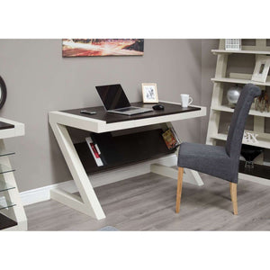 Furnish Our Home:Homestyle Painted Z Desk With Wenge Top