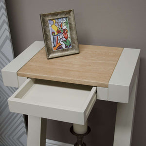 Furnish Our Home:Homestyle Painted Z Small Hall Table With Natural Top