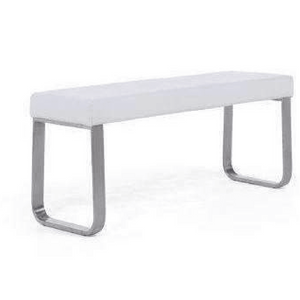 Furnish Our Home:Mark Harris Ava Medium White Bench (For 160cm Tables)