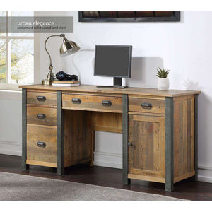 Furnish Our Home:Baumhaus Urban Elegance Reclaimed Twin Pedestal Home Office Desk