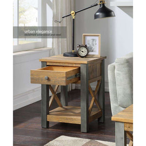 Furnish Our Home:Baumhaus Urban Elegance Reclaimed Lamp Table With Drawer