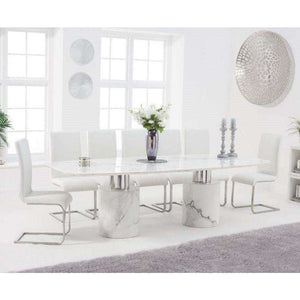Furnish Our Home:Mark Harris Adeline 260cm White Marble Dining Table