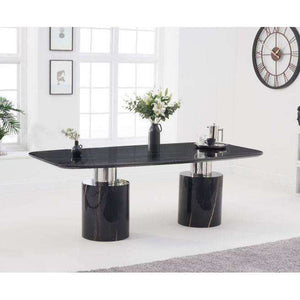 Furnish Our Home:Mark Harris Adeline 220cm Black Marble Dining Table
