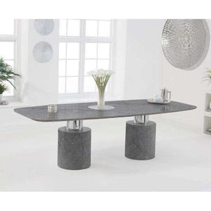 Furnish Our Home:Mark Harris Adeline 260cm Grey Marble Dining Table