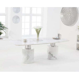 Furnish Our Home:Mark Harris Adeline 220cm White Marble Dining Table