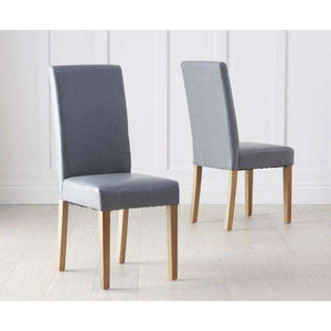 Furnish Our Home:Mark Harris Atlanta Grey Pu Dining Chairs (Pair)