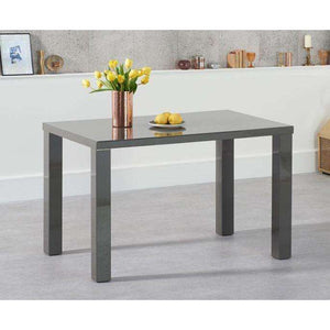 Furnish Our Home:Mark Harris Ava 120cm Dark Grey High Gloss Dining Table