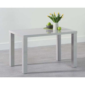 Furnish Our Home:Mark Harris Ava 120cm Light Grey High Gloss Dining Table