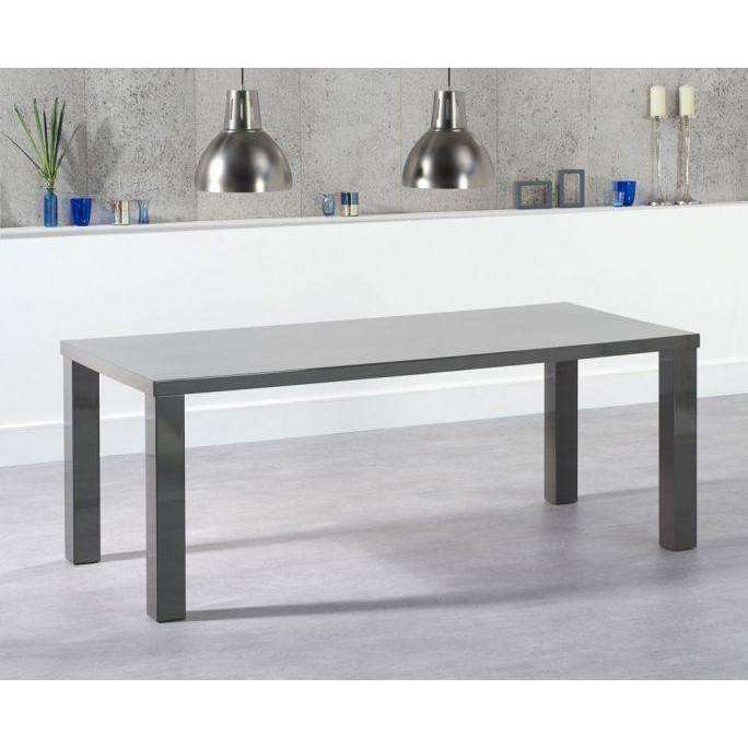 Mark Harris Ava 200cm Dark Grey High Gloss Dining Table