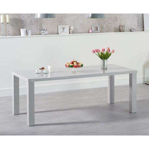 Furnish Our Home:Mark Harris Ava 160cm Light Grey High Gloss Dining Table