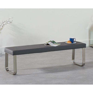 Furnish Our Home:Mark Harris Ava Large Grey Bench (For 180cm Tables)