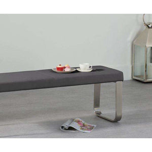Furnish Our Home:Mark Harris Ava Medium Grey Bench (For 160cm Tables)