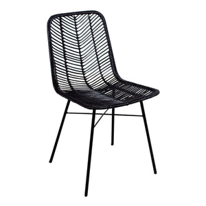 Furnish Our Home:Beco Living Mei Rattan Dining Chair Black (Pair)