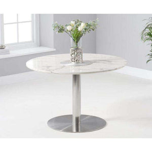 Furnish Our Home:Mark Harris Battista 120cm Round White Dining Table