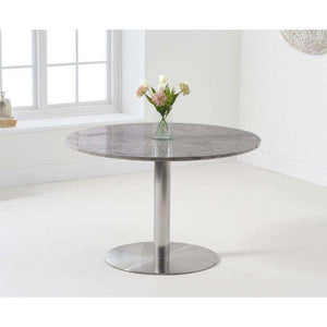Furnish Our Home:Mark Harris Battista 120cm Round Grey Dining Table