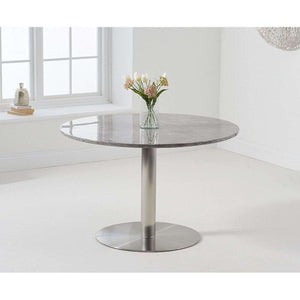 Furnish Our Home:Mark Harris Battista 120cm Round Grey Dining Table with 6 x Lucy Chairs