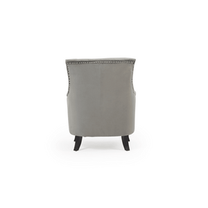 Furnish Our Home:Mark Harris Barney Accent Chair - Grey Velvet